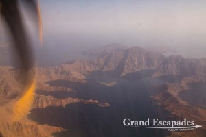 View of Musandam, Flight from Khasab to Muscat, Sultanat of Oman, Arabic Peninsula