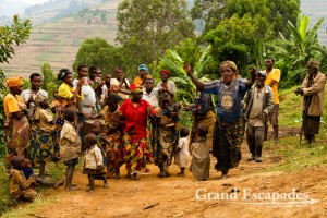 Traditional songs & dances, Batwa People, Lake Bunyonyi, West Uganda, Africa