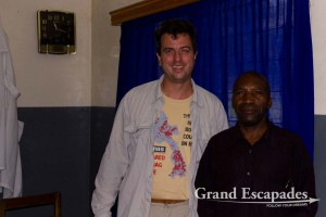 Gilles & Dr. Williams at Kagando Hospital on the Congolese border, North Uganda