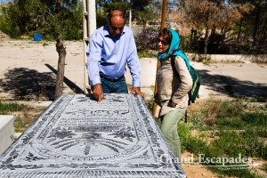 At the Jewish Cemetery in Pir-e-Bakran, south of Esfahan, Iran