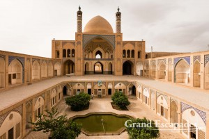 "The 18th Century Agha Bozorg Mosque and its ""sunken"" courtyard, Kashan, Iran"