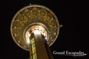 Milad Tower or Teheran Tower at night, Teheran, Iran