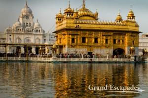 "Harmandir Sahib or Darbar Sahib, also referred to as the ""Golden Temple"", a prominent Sikh Gurdwara or Sikh temple, Amritsar, Punjab, India"