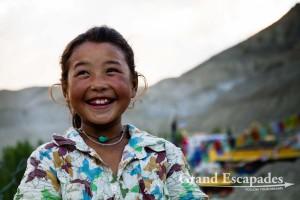 Young girl laughing in Lamayuru, Ladakh, India
