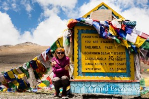 Passing Tagang La, the second highest motorable pass in the world, Ladakh India