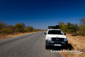 On the way from Beit Bridge to Bulawayo... Roads in Zimbabwe are excellent!