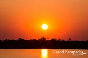 Sunset Cruise on the Zambezi, Victoria Falls, Zimbabwe, Africa