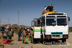 Public bus, near the Awash National Park, Ethiopia