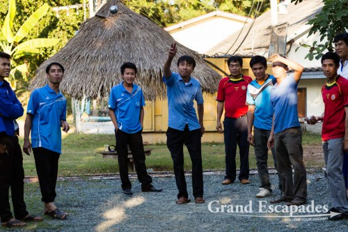 Competition of Pétanque in Luang Prabang, Laos