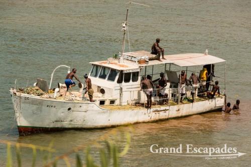 Boat on Lake Malawi
