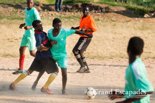 Saturday Afternoon (Football) Fever in Nkhata Bay, on the Shore of Lake Malawi
