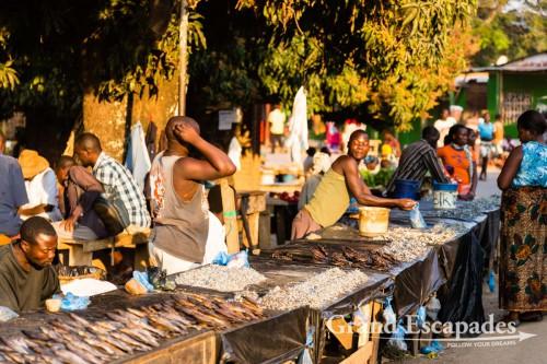 Market in Nkhata Bay, on the shores of Lake Malawi