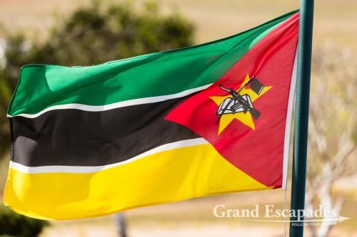 Mozambique Flag, Inhambane Airport, Inhambane, Mozambique