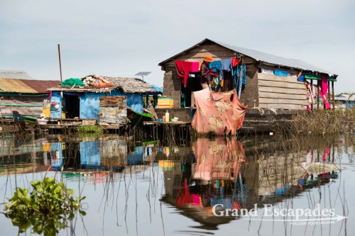 loating Village of Kompong Luong, on the Tonle Sap