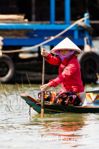 Floating Village of Kompong Luong, on the Tonle Sap, Cambodia