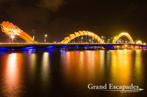 Danang's Bridges at Night, Vietnam