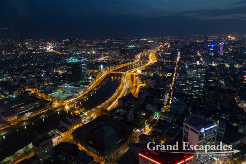 Ho Chi Minh City at Night from Bitexco Financial Tower