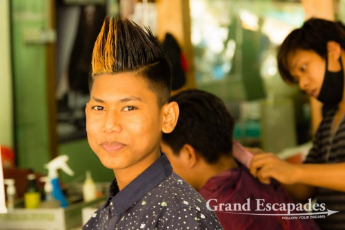 Hairdresser, Beauty Salon, Mandalay, Myanmar