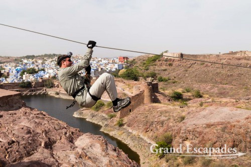 Flying Fox at Mehrangarh Fort, Jodhpur, Rajasthan, India