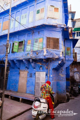 In the streets of Jodhpur, the Blue City, Rajasthan, India