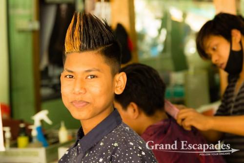 Hairdresser, Beauty Salon, Mandalay, Myanmar