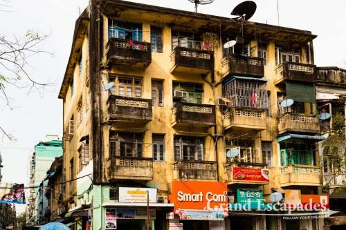 Old Town, Colonial Town, Yangon, Myanmar