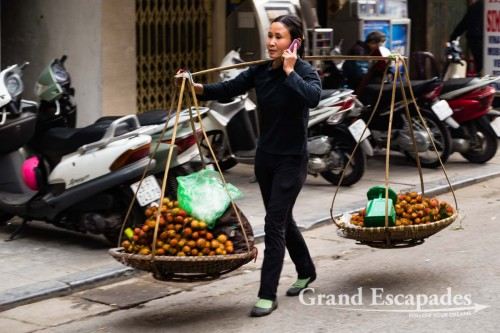 In the streets of Hanoi, Vietnam