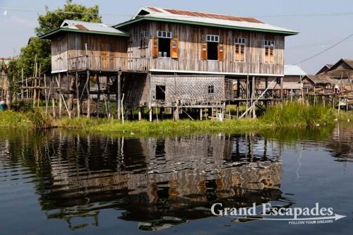 Floating villages on Inle Lake, Myanmar