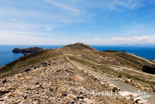 View of the north part of Isla del Sol, Lake Titicaca, Bolivia