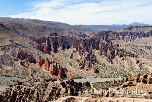 Valle de la Luna (view from the Mirador at El Sillar), South West Bolivia, South America