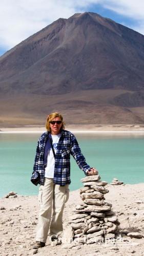 The Laguna Verde, Southwest Bolivia, South America