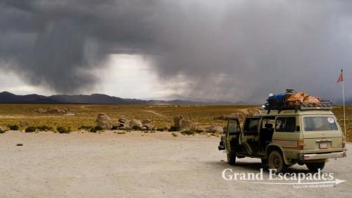 Heavy rain and hail over the Altiplano ...