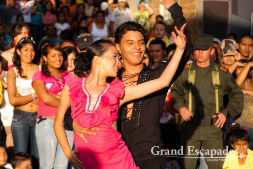 A group of twelve young dancers of the Academy of Ballet performed a medley of different dances (Salsa, Merengue, Tango, Vallenato, Brazilian Samba and even an Arabic dance), Medellin, Colombia