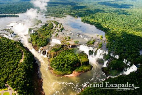 View form a helicopter, Iguazu Falls, Brazil