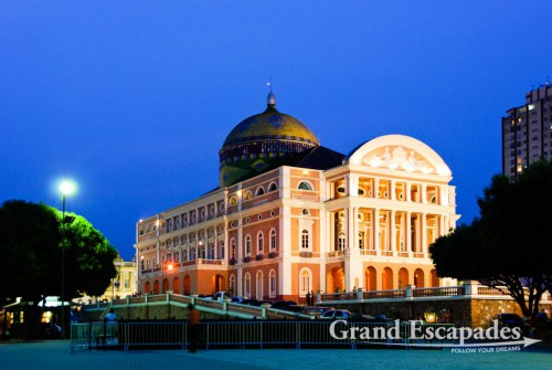 Teatro Amazonas, An Opera built in 1895 then in the middle of the jungle and at the time of the rubber boom, Manaus, Brazil