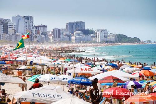 Ipanema Beach on the weekend in the winter ... Rio de Janeiro, Brazil