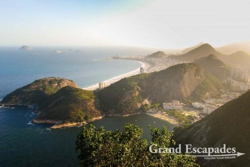 On top of the Pao de Acucar, with the Copacabana Beach in the background ... Rio de Janeiro, Brazil