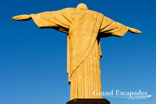 The world famous Cristo Redentor, a 38 meters high statue that definitely is one of Rio´s landmarks! Rio de Janeiro, Brazil