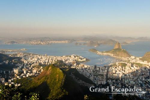 The Pao de Acucar seen from Morro de Corcovado ... Rio de Janeiro, Brazil
