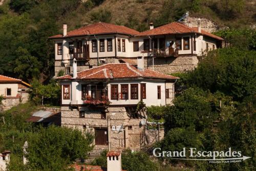 Traditional Bulgarian house, Melnik, wine growing area, south of Bulgaria, Europe