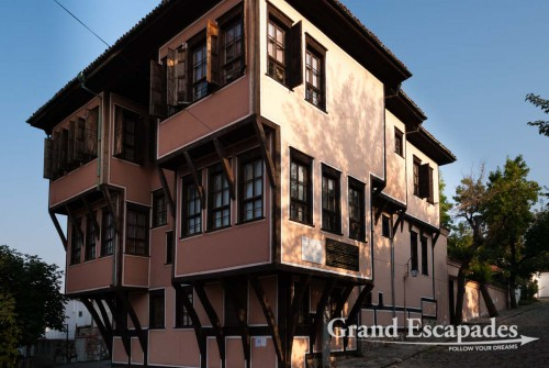 Lamartine House, National Revival Architecture with colorful houses, old city of Plovdiv, Bulgaria, Europe