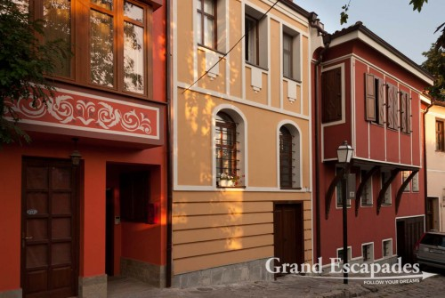 National Revival Architecture with colorful houses, old city of Plovdiv, Bulgaria, Europe
