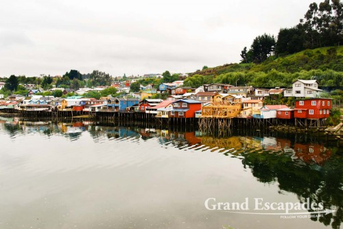 "The ""Palafitos"" are the trademark of Chiloe. Those wooden houses were built in the beginning of the 20th century. More than 1.000 of them could be found on the shores of Chiloe. Now only 120 remain..."