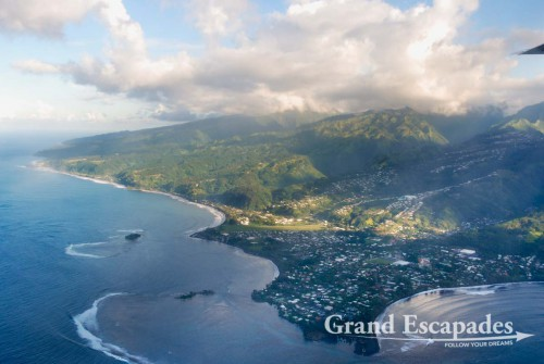 Approaching Papeete on Tahiti, French Polynesia