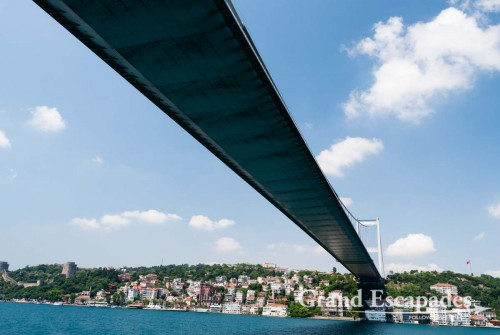 Cruise on the Bosporus up to the Balck Sea - One of the two bridges between Europe & Asia