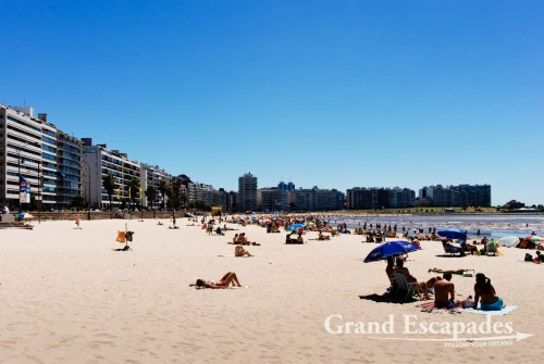 Playa Pocitos on a sunday, Montevideo, Uruguay, South America