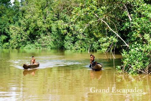 Boat Tour in the Orinoco Delta - Warao People on a boat, Orinoco Delta, East Venezuela