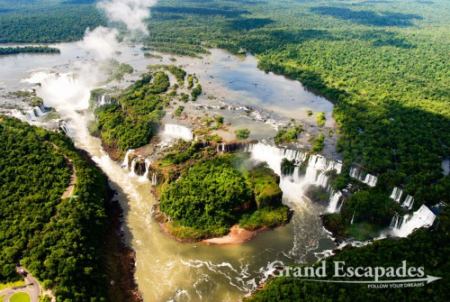 View form a helicopter, Iguazu Falls, Brazil