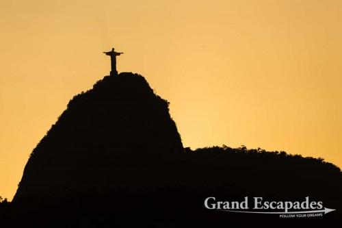 Sunset over Morro do Corcovado & the Cristo Rendedor, Rio de Janeiro, Brazil