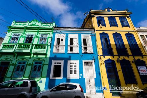 Old Colonial Houses, Pelourinho, Salvador de Bahia, Brazil